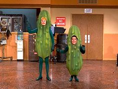 lucy and lucie in a pickle Vegetable Costumes, I Love Lucy, My Love, Lucille Ball, Firefighter, Maid, Darth Vader, Pickle, Piano