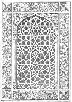 Dav 095 : l'art arabe, prisse d'avennes pattern in islamic a Islamic Art Pattern, Arabic Pattern, Pattern Art, Pattern Design, Islamic Architecture, Art And Architecture, Paper Cut Design, Design Art, Motifs Islamiques
