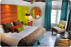 Beacon Hotel One Bedroom Suite. The suites have been remodeled this year and decorated with bright festive colors. Please enjoy gorgeous view of the Ocean Drive and the Atlantic and restful sleep in most comfortable bed.
