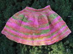 Free Knitting Pattern - Toddler & Children's Clothes: Toddler Summer Skirt