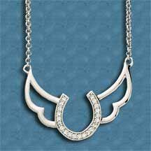 Horseshoe Wings Necklace