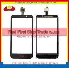 """High Quality 4.5"""" For HTC Desire 320 Touch Screen Digitizer Sensor Glass Lens Panel Black+Tracking Number"""