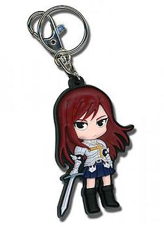 Fairy Tail Key Chain - SD Erza Sword Ready