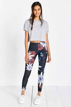 adidas Originals Lotus Print Legging - Urban Outfitters