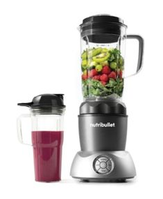 NutriBullet 1000 Watt Blender and Select Compact Nutrient Extractor, Grey Single Serve Blenders, Thing 1, Magic Bullet, Plastic Cups, Small Kitchen Appliances, Nutritious Meals, Healthy Breakfasts, Healthy Snacks, Superfood