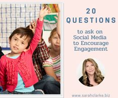 20 questions to ask on social media Are you looking to increase the engagement on your social media posts? One strategy you can use to do this is to ask questions to encourage your audience to respond. I find using questions as part of our content mix really helps to increase engagement, interaction, and can also be a huge source of valuable information. #sarahclarkebiz #socialmedia #engagement #20questions Facebook Marketing, Social Media Marketing, What If Questions, This Or That Questions, Management Tips, Social Media Tips, Encouragement, Engagement, Organizations