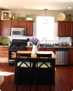 1000 ideas about cabinet top decorating on pinterest How to decorate the top of your kitchen cabinets