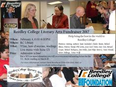 Don't miss the Reedley College Literary Arts Fundraiser this Saturday, February 4, from 6:00 p.m. to 9:00 p.m. in the Reedley College Library. Admission is free – Donations are welcome! #Reedley #Fundraiser