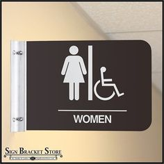 Direct Sign Mounts are the preferred method for hanging signs perpendicular from a wall, or flag mount signage from a wall. #signs #brackets #signage #advertising #ads