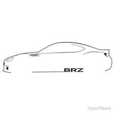 Subaru BRZ Brushstroke Silhouette t-shirt Car Silhouette, Car Prints, Automotive Design, Brush Strokes, Subaru, Cars And Motorcycles, Originals, Track, Image