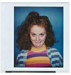 Amy Poehler's alter egos on polaroid.