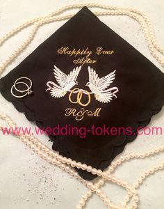 Happily ever after wedding handkerchief. Once upon a time wedding handkerchief your choice and choice of colors.