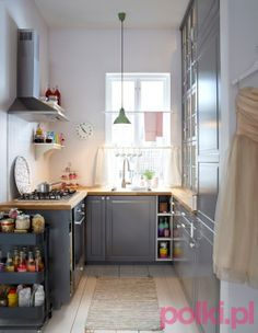 Pomysł na małą kuchnię Ikea #meble #furniture #dom #polkipl #kuchnia #kitchen