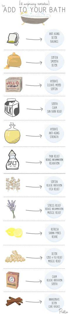 Surprising bath remedies.