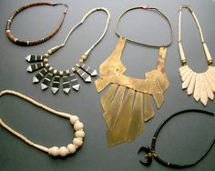 Tribal Breastplace Necklace . Huge Handmade Brass and by TheDeeps