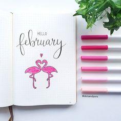 My February cover page (insert flamingo emoji) _____________________________________________ #bulletjournal #bulletjournaling #bujo #bujoaddict #bujobeginner #bujoinspo #bujojunkies #bujobeauty #bujoinspire #bulletjournalshowcase #bulletjournalss #showmeyourbulletjournal #planner #showmeyourplanner #leuchtturm1917 #monthly #monthlyspread #monthlyplanner