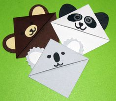 The Three Bears Corner Bookmark Set by CannolisCorner on Etsy