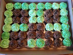 Mine craft cupcake cake