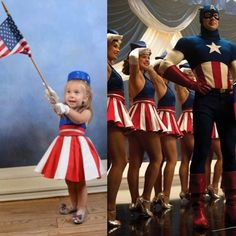 It's the Star Spangled Girl who can twirl!
