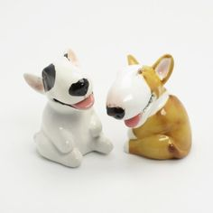 Bull Terrier Dog Ceramic Figurine Salt Pepper Shaker B00006 Ceramic Handmade Dog Lover Gift Collectible Home Decor Art and Crafts by Bull Terrier - madamepOmm -. $59.00. Bull Terrier Dog Lover Ceramic Original Handmade Hand Paint Salt and Pepper Shaker Figurine Ceramic Home Decor Collectibles  Made of ceramic porcelain high fired interior apply clear under-glaze, food safe painted with attention hand painted acrylic paint then apply clear gloss protected.  It's come with ru...