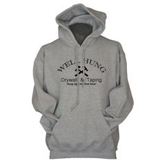 Drywaller Hoodie Funny Hoodies for Drywallers Gifts for Drywall Tapers Contracters Well Hung Drywall and Taping Sweatshirt for Men
