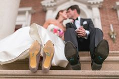 Custom Bride and Groom Shoe Decals | Etsy.com | Jeff & Jane Greenough | TheKnot.com
