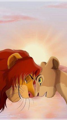 Simba et nala Simba E Nala, Roi Lion Simba, Lion King Simba, Disney Lion King, Disney Amor, Art Disney, Disney Kunst, Disney Movies, Funny Disney