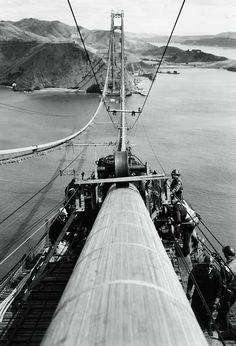 Construction of the Golden Gate Bridge, ca 1936