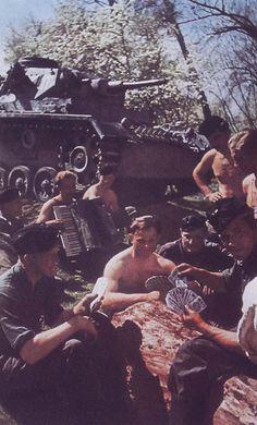 German World War 2 Colour Panzer III Tank Crew Playing Cards
