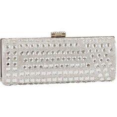 Women's J. Furmani 62031 Crystal and Stone Hardcase Clutch