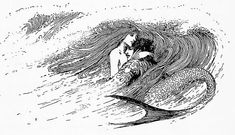 "Helen Stratton, Tales from Hans Andersen. ""She held his head above the water, and then let the waves carry them whither they pleased."""