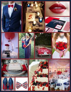 An English Rose, Luxury Lifestyle Weddings - Navy Blue and Red Wedding