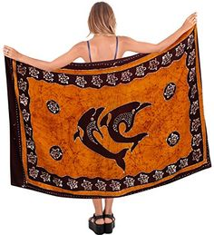 La Leela Rayon Hawaiian Women's Beach Bikini Swimwear Swimsuit Pareo Slit Skirt Pareo sarong Batik Brown one Size Fathers Day Gifts Spring Summer 2017  Special Offer: $16.95  433 Reviews Welcome to La Leela Beautiful Sarong for all events / party/ Pool/Cruise/ holiday and Day...
