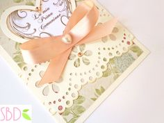 Invito / biglietto d'auguri per Prima Comunione - First Communion Card by SweetBioDesign Handmade, Hand Made, Handarbeit
