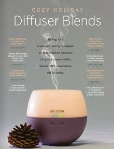 Diffuser blends.  Tried the orange, lavender and frankincense. Loved it. Second time, added a little fir. Nice, too!