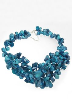 Blue Coral Statement Necklace