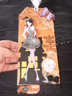 Here is a tag I made using The Prima Doll stamp.