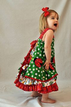 Custom Boutique Ladybug Feliz Little Girl by themerrychurchmouse, $150.00