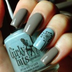 10 Autumn Nail Ideas 2013. Never would have imagined these two colors together!