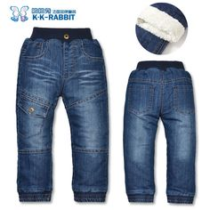 Nice High quality KK-RABBIT Winter Thick Fashion Boys Pants Kids Trousers Girls Baby Children Jeans - $34.47 - Buy it Now!