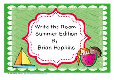 Here's a great activity to review beginning sounds for 1st graders at the beginning of the year or after you have taught the sounds included for Kindergarten. Children write the room as they find pictures of summer related things (8 total) and write the beginning sound or the whole word on the worksheet. This is perfect for centers or early finishers and will get your students up and moving!