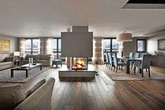 Bildergebnis für modernes wohnzimmer mit kamin