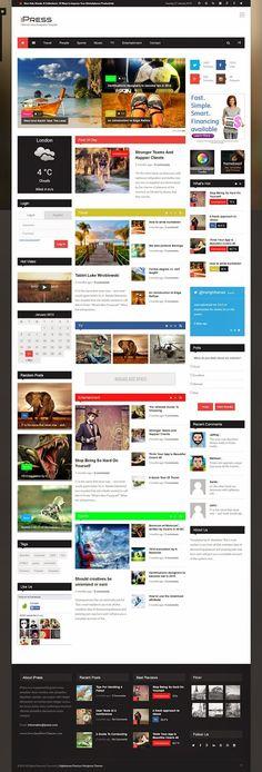 iPress Awesome Blog Magazine News WordPress Theme 2015 #Tuesday #inspiration