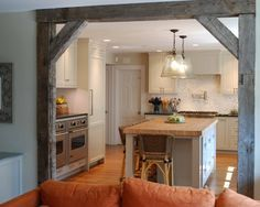 Barnwood Design, Pictures, Remodel, Decor and Ideas - love the barn wood beam doorway
