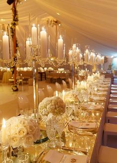 Color Inspiration: Shimmering Gold Wedding Ideas - wedding reception idea; Colin Cowie Weddings #WeddingIdeasGold #weddingreception