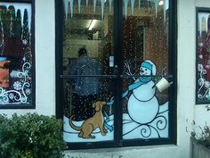window painting. Doggie Day Care, NYC
