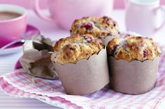 Macadamia, White Chocolate And Raspberry Muffins Recipe - Taste.com.au Fantastic Muffin mix...very moist!! tried it and loved!!