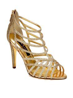 Black Comfort Pointed Sling Back Heels | Gold sandal heels, Sandal ...
