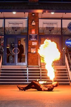 Fire performers for theme parties and corporate events in the UK