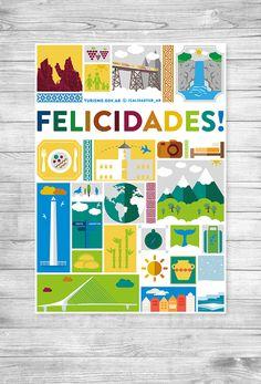 Saludo por festividades para enviar por mail y compartir en redes sociales. Diseñado e ilustrado con motivos turísticos de la República Argentina, para la Subsecretaría de Calidad Turística del Ministerio de Turismo de la Nación de la República Argentina.…